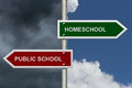 HomeSchool versus Public School Royalty Free Stock Photo