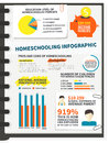 Homeschooling infographic Royalty Free Stock Photo