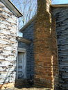 Homestead decaying with stone chimney and breezeway photographed in franklin county virginia Royalty Free Stock Photography