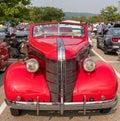 Homestead, Pennsylvania, USA July 21, 2021 A 1948 Pontiac Silver Streak convertible Royalty Free Stock Photo