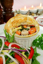 Homestyle Chicken And Vegetable Pie Royalty Free Stock Image