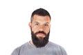 Homme avec la barbe Photographie stock