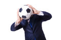 Homme avec le football Photo libre de droits