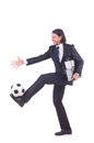 Homme avec le football Photos libres de droits