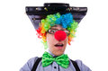 Homme d affaires de clown Images libres de droits