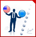 Homme d affaires holding united states Images stock