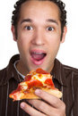 Homme de pizza Photos libres de droits