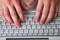 Homme et computer-4 Images libres de droits