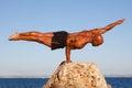 Homme intense d'équilibre Photo libre de droits