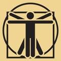 Homme vitruvian minimalistic de vecteur Photo libre de droits