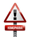 Homophobia warning sign illustration design over a white background Royalty Free Stock Photo