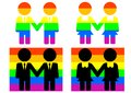 Homosexual culture symbols and flags of Royalty Free Stock Photo