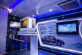 Honda brand exposition area in mobile caravan the interior of the liuzhou auto show oct liuzhou china the picture shows Stock Images