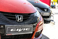 Honda cars tight crop of in a dealership Royalty Free Stock Images