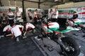 Honda Castrol CBR 1000 official racing team Royalty Free Stock Image