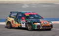 Honda civic racing at the bic cc challenge in bahrain middle east Stock Photos