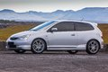Honda civic type r image of a at a drag racing event in iceland Stock Image