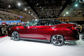 Honda clarity fcv side view at the th tokyo motor show in japan the new is an hydrogen fuel cell family car with Stock Image