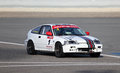 Honda crx racing at the bic cc challenge in bahrain middle east Stock Image