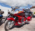 Honda goldwing cylinder at motorcycle rally mototagliatella on on may in predappio fc italy Stock Image
