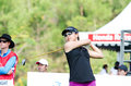 Honda lpga thailand chonburi february mina harigae golfer from usa in at siam country club pattaya old course on february in Stock Image