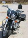 Honda Motorbike  Full View Royalty Free Stock Photo