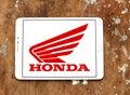 Honda motorcycle logo Royalty Free Stock Photo