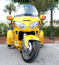 Honda motorcycle the yellow trike Stock Photography