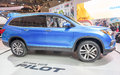 Honda pilot in the cias canadian international autoshow for short is canada s largest auto show and most prestigious consumer Royalty Free Stock Photography