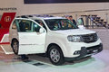 Honda pilot moscow september at the moscow international automobile salon on september in moscow russia Stock Image
