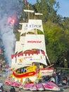 Honda's Ship of Dreams Parade Float Royalty Free Stock Photo