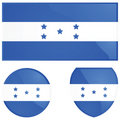 Honduras flag and emblem Royalty Free Stock Photography