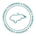 Honduras vector map.