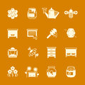 Honey apiary vector icons set
