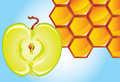 Honey-and-apple Stock Image