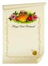 Honey with apple for Rosh Hashanah - jewish new year