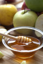 Honey and apples domestic fresh Royalty Free Stock Images