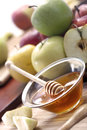 Honey and apples natural organic Royalty Free Stock Image