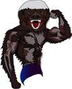 Honey Badger Mascot