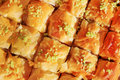 Honey baklava is a middle eastern dessert it is a rich sweet pastry made of layers of filo filled with chopped nuts and sweetened Stock Photography