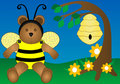 Honey Bee Bear Royalty Free Stock Photo