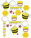 Honey bee seamless pattern Royaltyfri Fotografi