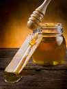 Honey with beeswax Stock Photos