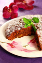 Honey cake with nuts and raisin Royalty Free Stock Photo