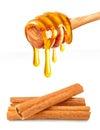 Honey and cinnamon Royalty Free Stock Photo