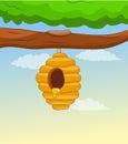 Honey comb on tree