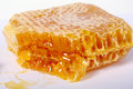 Honey comb on a white background Stock Photo