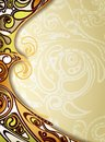 Honey curve background illustration of abstract flowing design Royalty Free Stock Photography