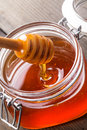 Honey drip Stock Image