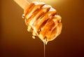 Honey Dripping From Honey Dipp...